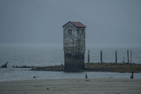 Pump house on Douglas Island beach